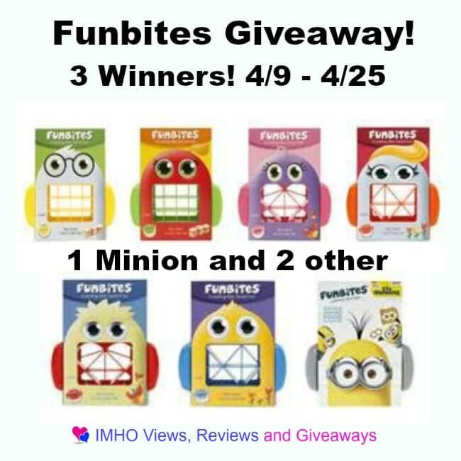 Funbites giveaway ends april 25 ended trisha dishes for Funbites