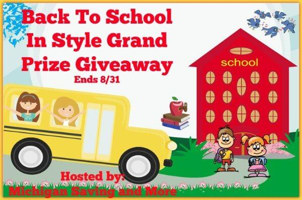 Back To School In Style Grand Prize #Giveaway