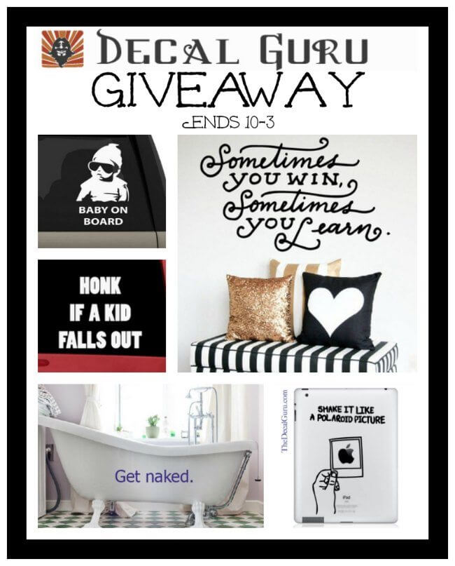 Have you entered the Decal Guru #Giveaway yet?