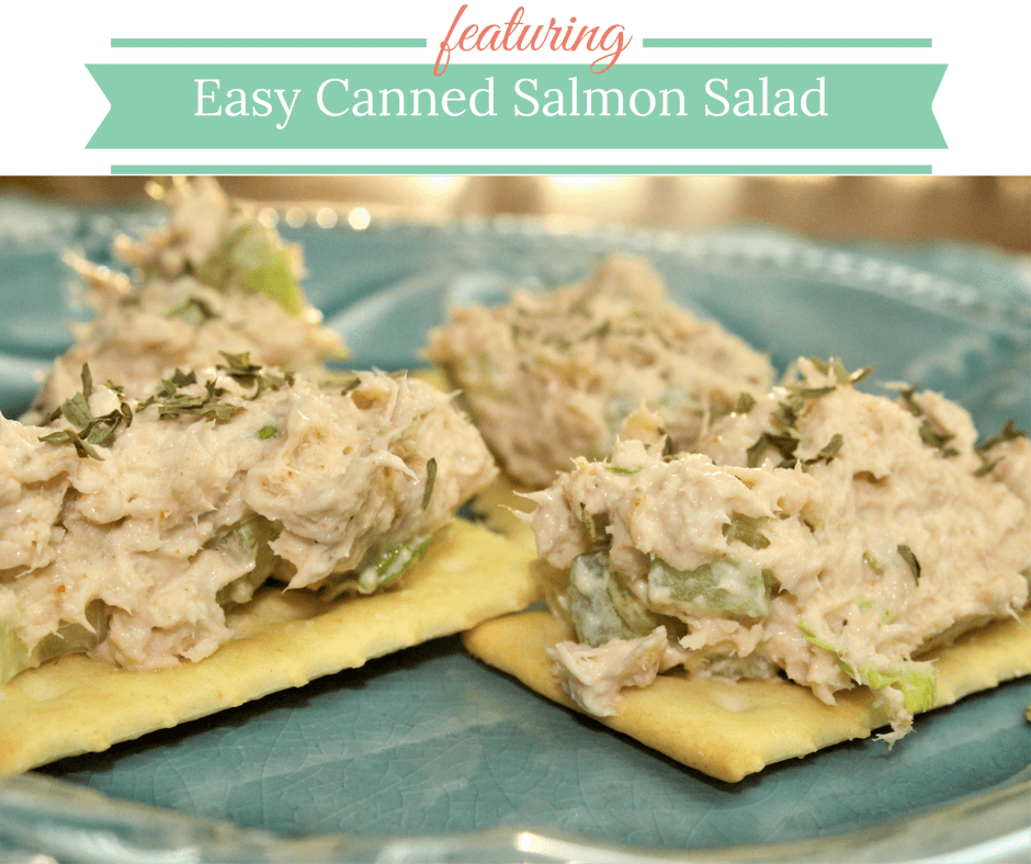 Easy Canned Salmon Salad on Celery Crafts