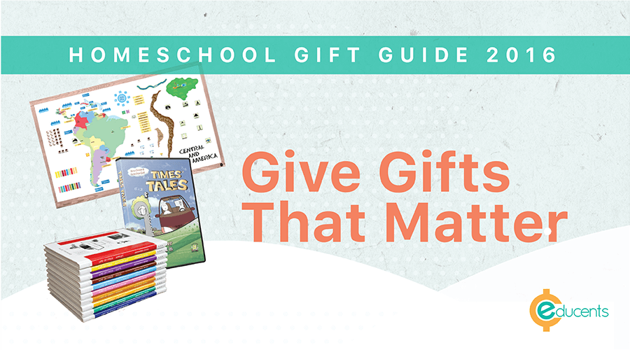 Homeschool Holiday Gift Guide 2016 is filled with gifts that parents and grandparents can feel good about giving.