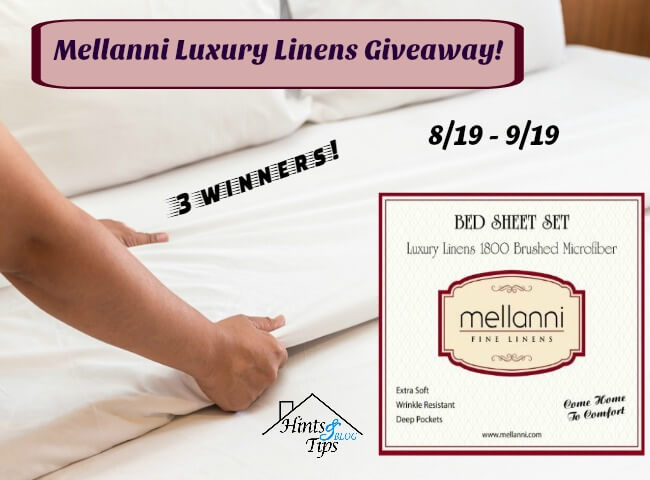 Mellanni Luxury Linens #Giveaway