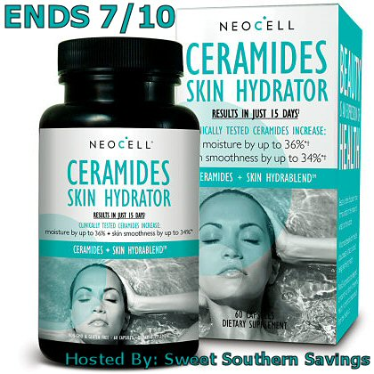 Have you entered the NeoCell Ceramides Skin Hydrator Giveaway yet? | Trisha Dishes | giveaway | skin supplements | Skin hydrator | beauty supplements