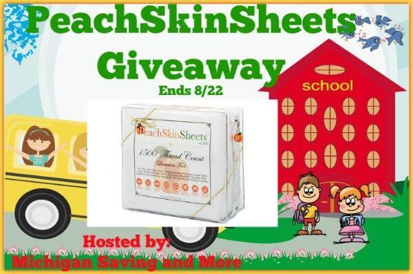 PeachSkinSheets #Giveaway