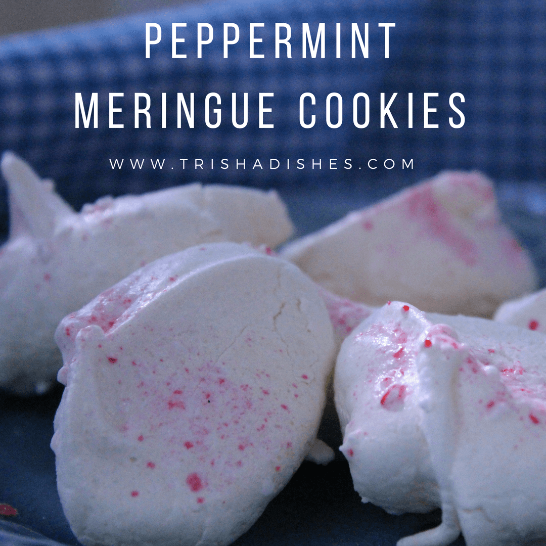 Peppermint meringues are perfect for your next cookie swap, potluck, baking day, or even to leave out for Santa!