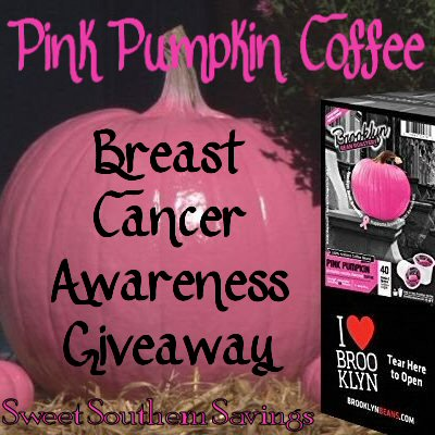 Have you entered the Breast Cancer Awareness Pink Pumpkin Coffee Giveaway?