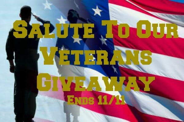 Have you entered the Salute to Our Veterans Giveaway yet?