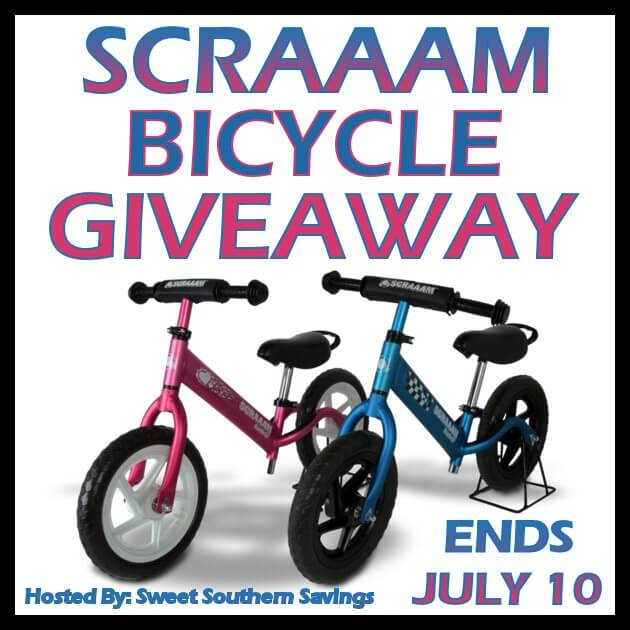 Have you entered for a chance to win this cool SCRAAM Balance Bike for the little in your life?