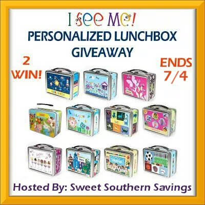 Summer is here! I See Me Personalized Lunchbox Giveaway