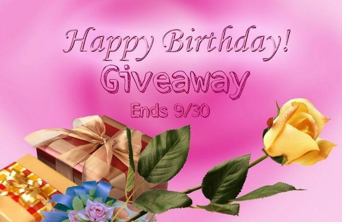 Enter to Happy Birthday Giveaway for a chance to win awesome prizes.