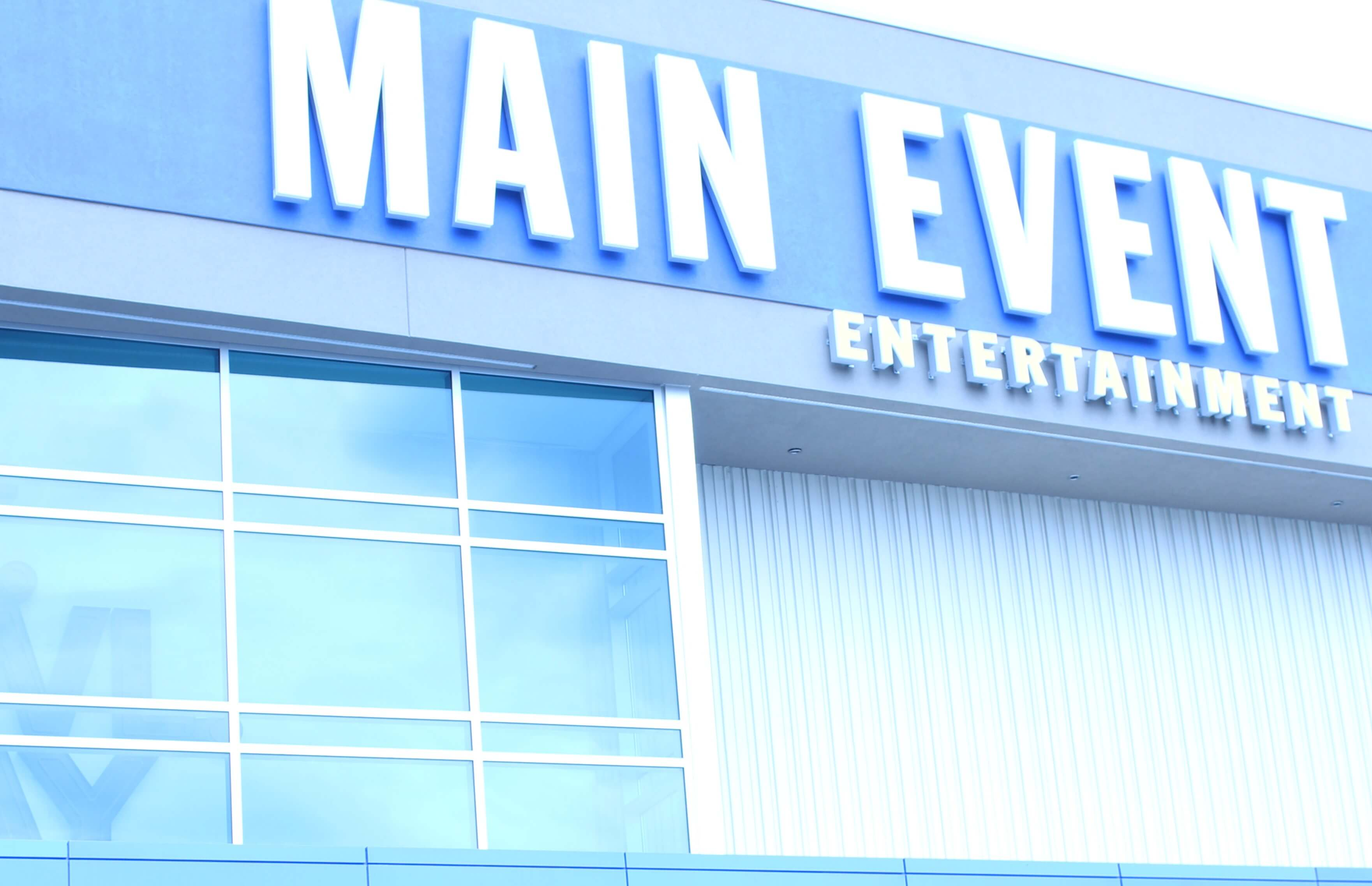 Front of Main Event Entertainment