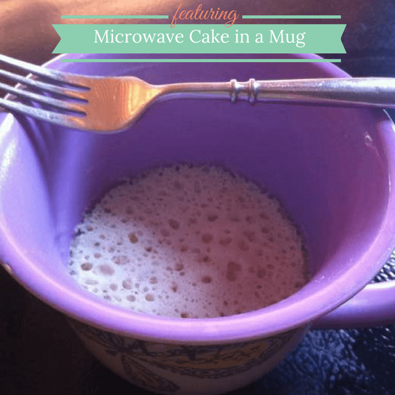 Single Serve Microwave Cake in a Mug
