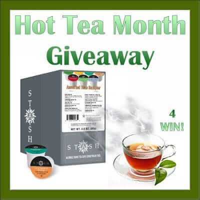 Have you tried this Stash hot tea? Stash is generously sponsoring this giveaway where 4 lucky winners will each win a variety pack!