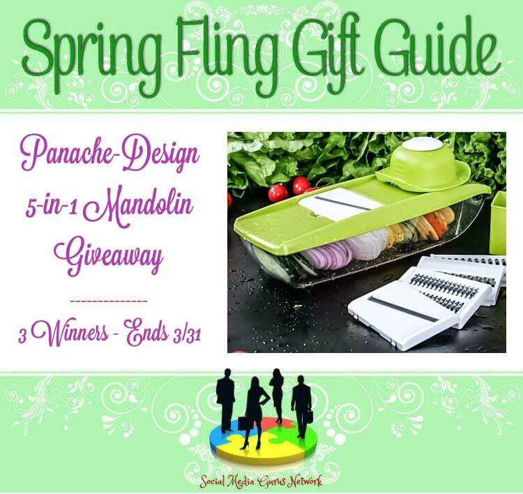 Have you entered for a chance to win this mandolin slicer from Panache Designs in this Spring Fling Gift Guide Giveaway?