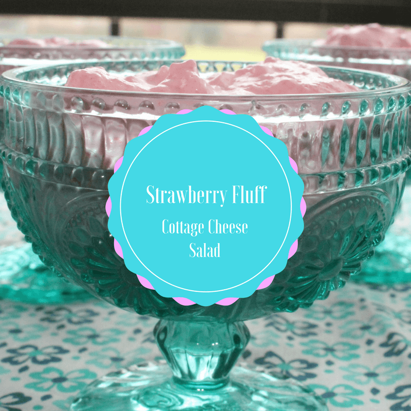 This Strawberry Fluff Cottage Cheese Salad is a lovely light and fruity dish for Easter, springtime, or summer.